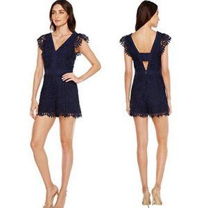 NWT Adelyn Rae Navy Lace Romper M